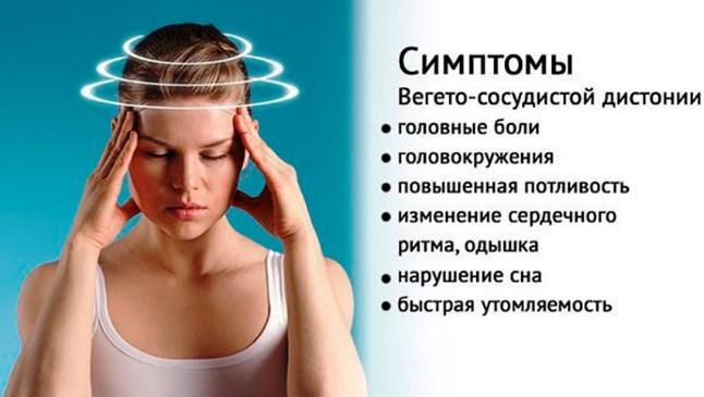 симптомы вегето-сосудистой дистонии головного мозга