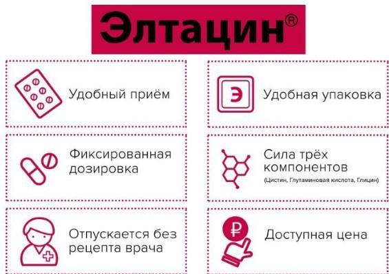 Преимущества препарата Элтацин