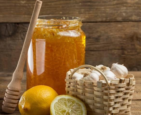 Лимон, мед и чеснок