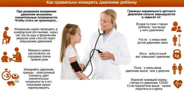 Правильное измерение давления у ребенка