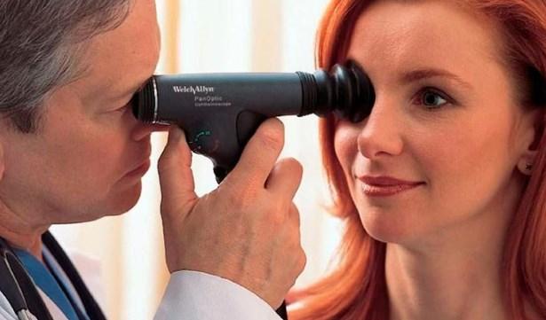 Осмотр глазного дна офтальмологом