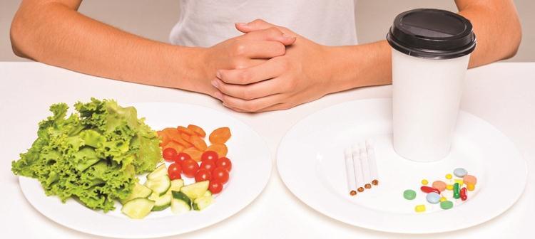 Прием пищи и таблетки