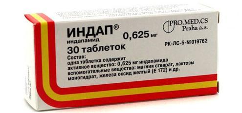 Индап в таблетках