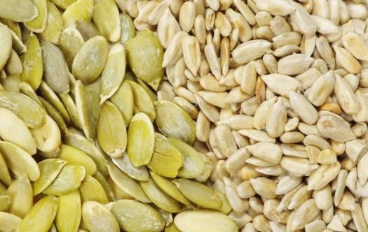 Семена тыквы и подсолнечника