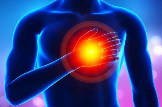 Локализация боли в области сердца