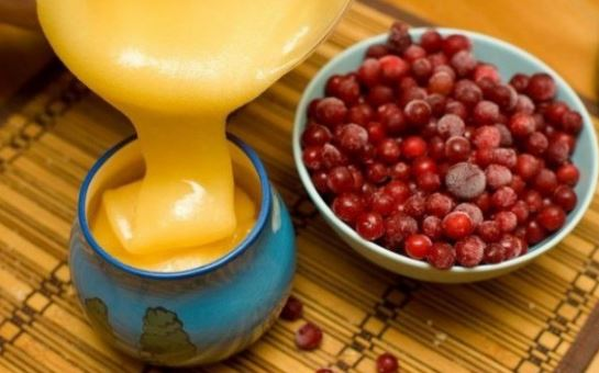 Клюквенный сок с мёдом