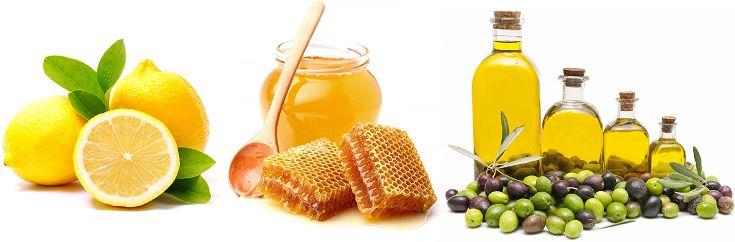 Лимон, мед и масло