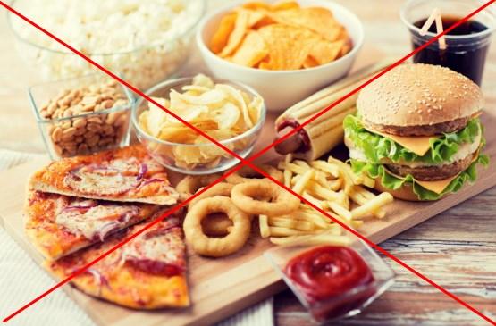 Ограничение жирной и жареной пищи